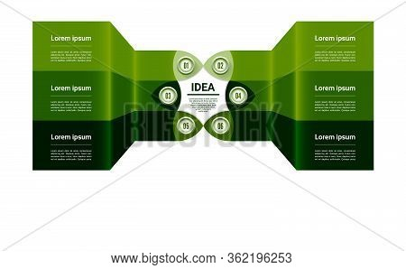Vector Progress Background. Template For Diagram, Graph, Presentation And Chart. Business Concept Wi