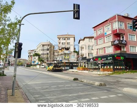 Istanbul - Apr 19, 2020: Millions Confined To Homes After Turkey Impose Coronavirus Lockdown