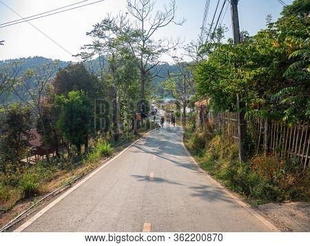 Nan, Thailand, December, 30, 2019: Sakad Road Famous Favorite Landmark At Pua, Nan, Thailand.editori