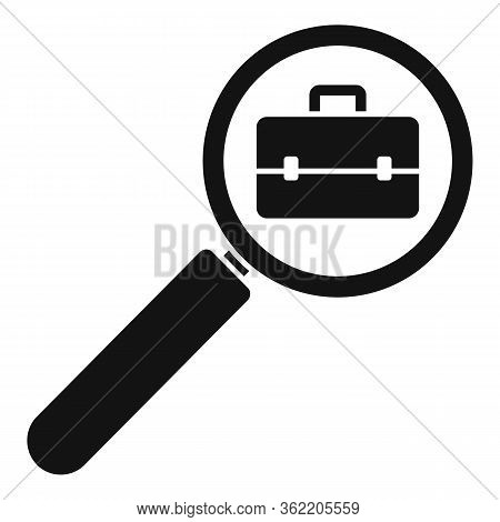 Job Search Magnifier Icon. Simple Illustration Of Job Search Magnifier Vector Icon For Web Design Is