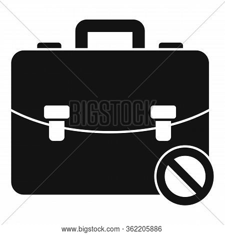 Unemployed Leather Bag Icon. Simple Illustration Of Unemployed Leather Bag Vector Icon For Web Desig
