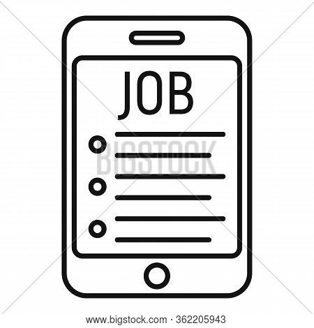 Smartphone Job Propose Icon. Outline Smartphone Job Propose Vector Icon For Web Design Isolated On W
