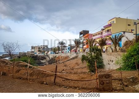 Ponta Do Sol/cape Verde - August 12, 2018 - Streets And Houses In Santo Antao Island