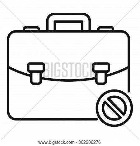 Unemployed Leather Bag Icon. Outline Unemployed Leather Bag Vector Icon For Web Design Isolated On W