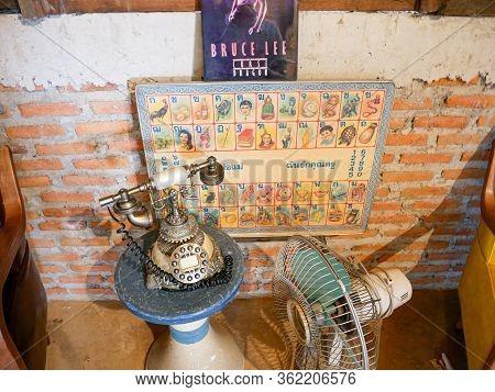 Nan, Thailand, December, 30, 2019: Sakad Dee Home Stay Coffee Shop Famous Favorite Landmark At Pua,