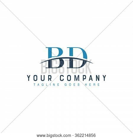 Initial Letter Bd, Overlapping Movement Swoosh Horizon Logo Company Design Inspiration In Blue And G
