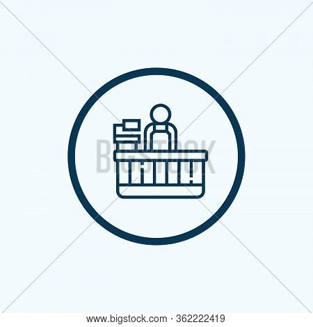 Recorder Seller Icon Vector. Recorder Seller Sign. Isolated Contour Symbol Illustration