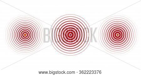 Pain Concentration Icon Red Transparent Circles, Pain Concentration Symbol For Painkillers, Headache