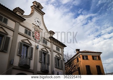 Neive, Italy - March 3, 2019: The Town Hall (comune In Italian Language) Of Neive, Italy, One Of The