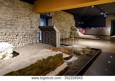 Alba, Italy - March 1, 2018: Alba Sotterranea (underground Alba), Ancient Roman And Middle Age Arche
