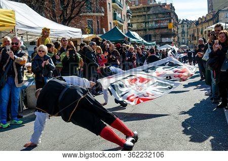 Turin, Italy - February 26, 2017: Historical Carnival Parade Of