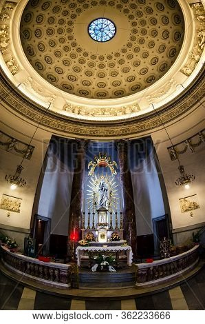 Turin, Italy - September 24, 2017: Interior Of The Church Of The Gran Madre In Turin (piedmont, Ital