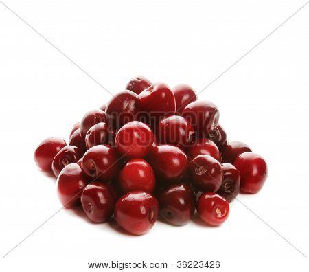 Heap of sweet cherries