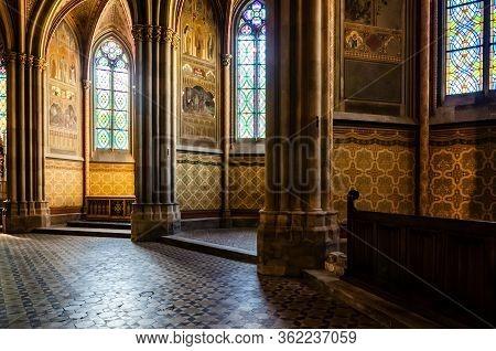 Interior Of The Famous Neo Gothic Votivkirche (votive Church) In Vienna, Build By Archduke Ferdinand
