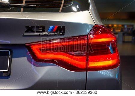 Grey Bmw X3m Competition Rear Light .bmw Welt, Munich, Germany, March 2020