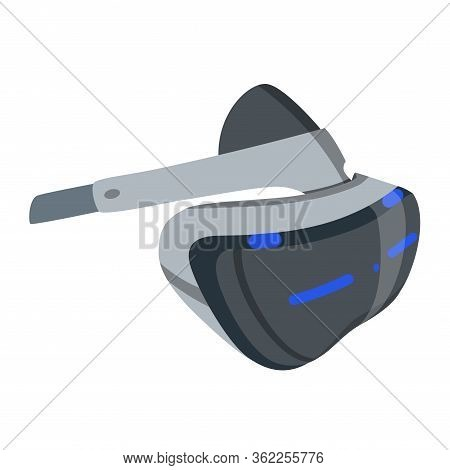 Realistic Vr Glasses, Helmet Isolated. Vr Headsets Vector Illustration Isometric Image. Virtual Real