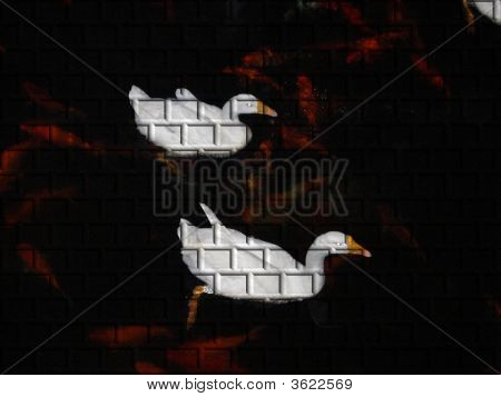 Abstract Duck Bricks