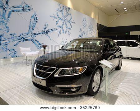 Black Saab 95 On Display