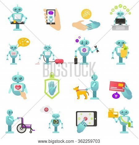 Robo Advisor Of Financial Transactions, Adviser Health Help, Help Disabled People, Cleaning Robot, H