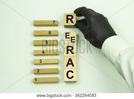 Career Man Collects The Word Career From Wooden Cubes In A Conceptual Image Of A Personal Guide To S