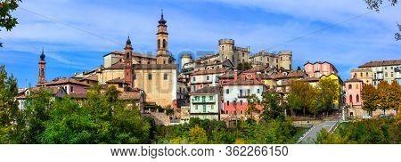 Pictorial medieval village(borgo) and castle - Costiglione d'Asti in Piemonte, Italy