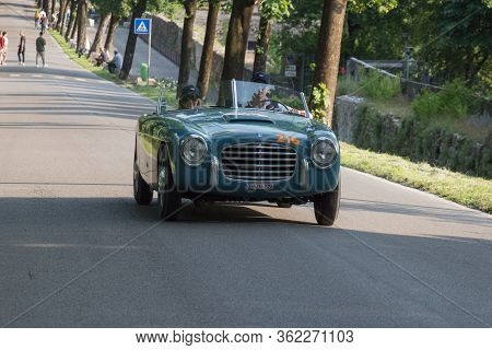 Brescia, Italy - May 19 2018: S.i.a.t.a. Daina Gran Sport Stabilimenti Farina 1951 Is An Old Racing