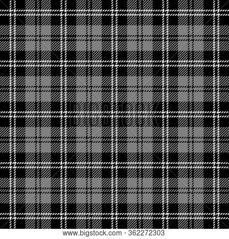 Tartan Plaid. Scottish Pattern In Black, Gray And White Cage. Scottish Cage. Traditional Scottish Ch