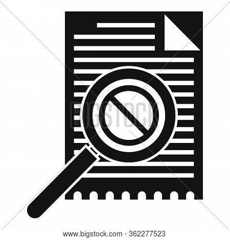 Business Bankrupt Icon. Simple Illustration Of Business Bankrupt Vector Icon For Web Design Isolated