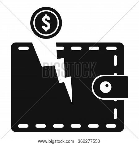Bankrupt Wallet Icon. Simple Illustration Of Bankrupt Wallet Vector Icon For Web Design Isolated On