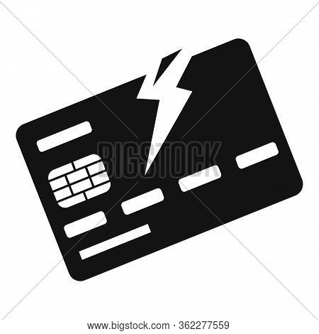 Bankrupt Bank Card Icon. Simple Illustration Of Bankrupt Bank Card Vector Icon For Web Design Isolat