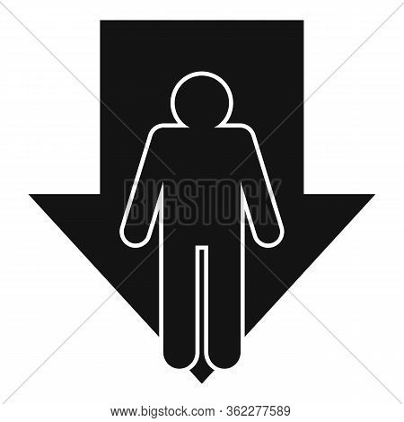 Bankrupt Man Icon. Simple Illustration Of Bankrupt Man Vector Icon For Web Design Isolated On White