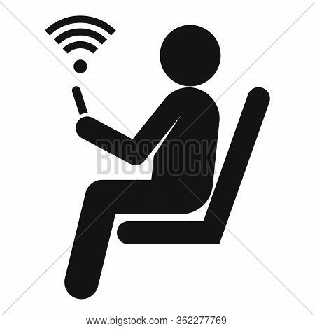 Waiting Room Wifi Icon. Simple Illustration Of Waiting Room Wifi Vector Icon For Web Design Isolated