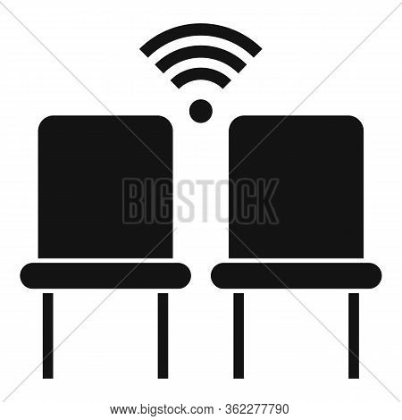 Wifi Chairs Point Icon. Simple Illustration Of Wifi Chairs Point Vector Icon For Web Design Isolated