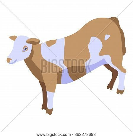 Cow Icon. Isometric Of Cow Vector Icon For Web Design Isolated On White Background
