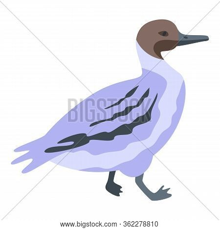 Little Duck Icon. Isometric Of Little Duck Vector Icon For Web Design Isolated On White Background