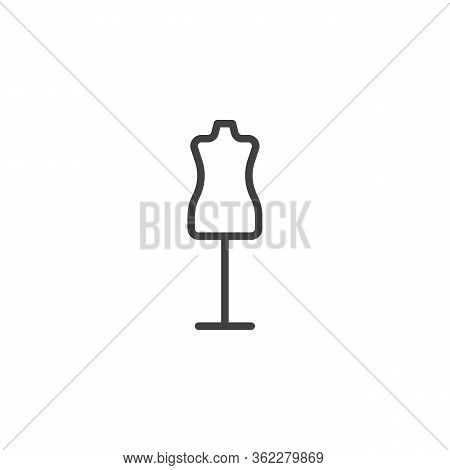 Sewing Mannequin Line Icon. Linear Style Sign For Mobile Concept And Web Design. Atelier Mannequin O