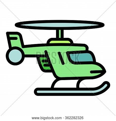 Rescue Helicopter Icon. Outline Rescue Helicopter Vector Icon For Web Design Isolated On White Backg