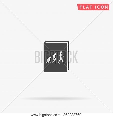 Evolution Book Flat Vector Icon. Glyph Style Sign. Simple Hand Drawn Illustrations Symbol For Concep