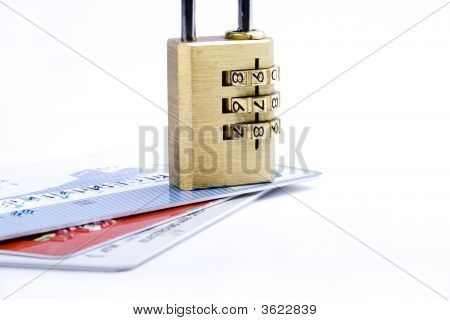 Credit Card And Combination Lock