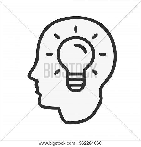 Brain Icon Isolated On White Background. Brain Icon In Trendy Design Style. Brain Vector Icon Modern