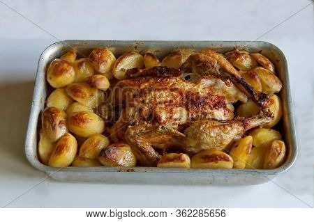 Appetite Portion A Whole Roasted Chicken With Tasty Roasted  Potatoes, Sofia, Bulgaria