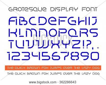 Modern Display Grotesque Flat Font, Ideal For Headers, Titles In Posters Or Prints