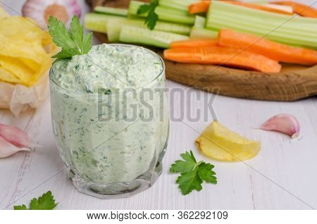 Curd Cheese Sauce With Herbs