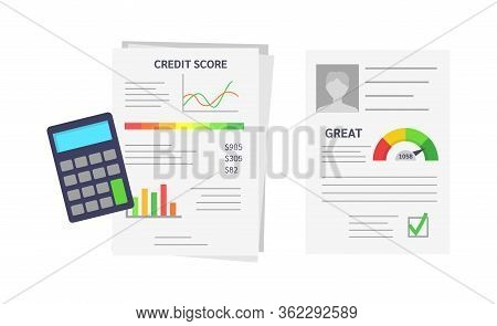 Documents With Client S Credit History, Profile, Approval Rating.