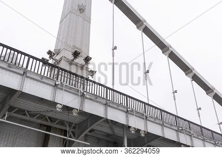 Close Up View Of The Crimean Bridge In Moscow, Russia.