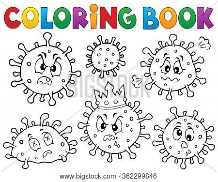 Coloring Book Viruses Set 1 - Eps10 Vector Picture Illustration.