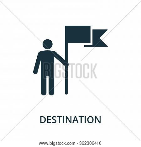Destination Icon. Simple Element From Navigation Collection. Filled Destination Icon For Templates,