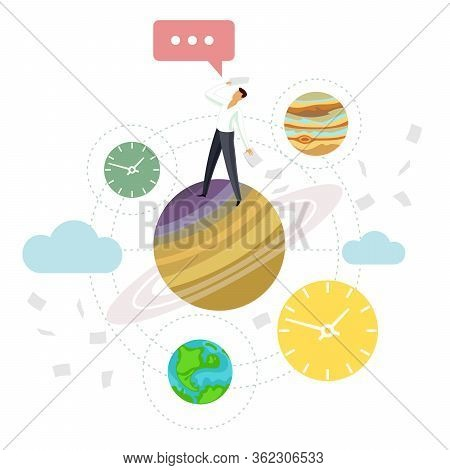 Vector Flat Illustration Planets Of The Solar System