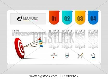 Infographic Design Template. Creative Concept With 4 Steps. Can Be Used For Workflow Layout, Diagram