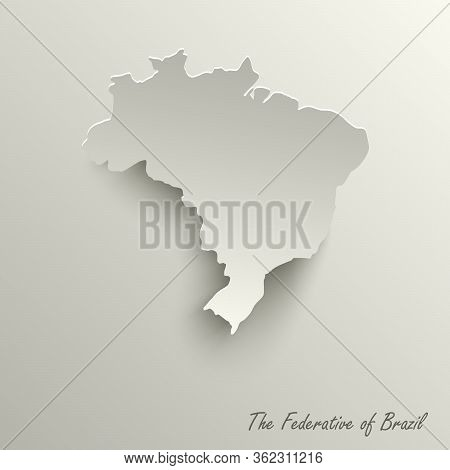 Abstract Design Map The Federative Republic Of Brazil Template Vector Eps 10